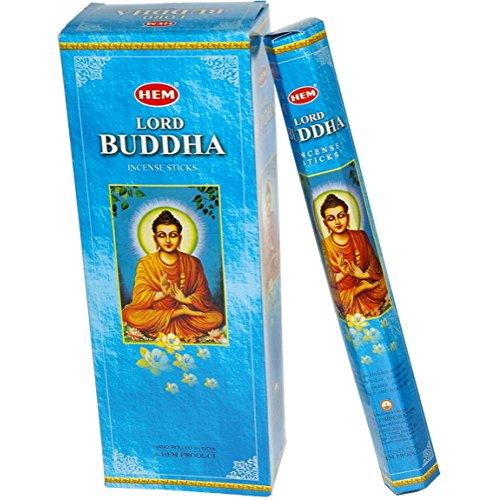 Hem Lord Buddha Incense 6 Hexagon Packs of 20 = 120 Sticks