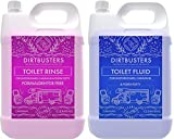 Dirtbusters caravan and motorhome toilet chemicals waste tank fluid blue and pink rinse flush tank solution Formaldehyde Free 2 x 2 litres
