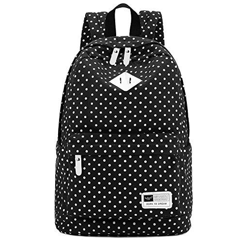 S-ZONE Tijdstijl dames heren meisjes duurzame zeildoek schooltas 14-15 inch laptoptas wandelrugzak voor school, vrije tijd