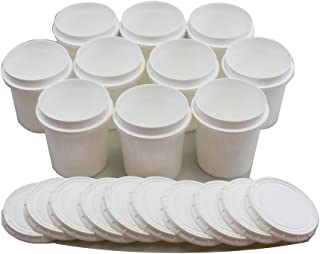 Superfos Vapor Lock HDPE Pint (16 oz) Container & Lid - Pack of 10