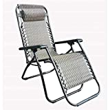 [Set of 2] Adjustable Zero Gravity Lounge Chair Recliners with Head Rest
