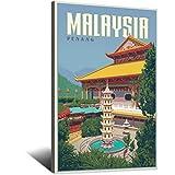 Vintage-Reise-Poster, Malaysia, Leinwand, Kunstdruck,