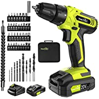 SnapFresh 20V Cordless Drill with Battery & Charger