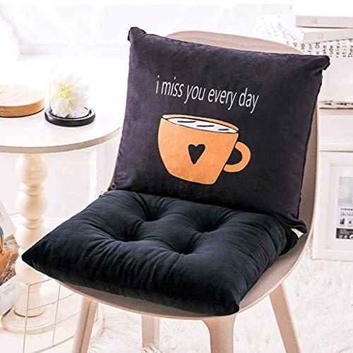 LLLD Cojín para tumbona, cojín de comedor, 100% terciopelo grueso, cojín desmontable para asiento de estudiante para piso de oficina, cojín de asiento infantil (color: E, tamaño: 80 x 45 x 10 cm)