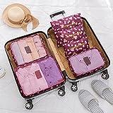 6 unidades / set de ropa de viaje bolsa de almacenamiento ordenada bolsa de maleta, bolsa de maleta, sujetador con cremallera, organizador de ropa interior cosmético