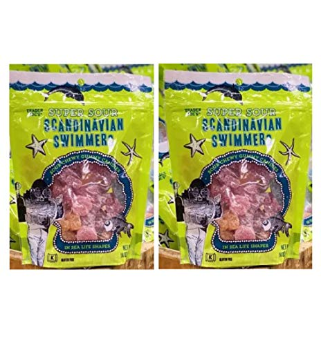 Trader Joe's Super Sour Scandinavian Swimmers 2 PACK (total of 28 oz) 14 oz Gluten Free - Limited edition