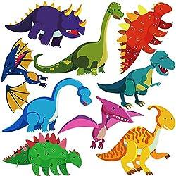 7. DEKOSH Colorful Peel and Stick Dinosaur Wall Decals