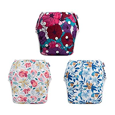 ALVABABY Swim Diapers 2pcs One Size Reusable & Adjustable Baby Shower Gifts (3SWY03)