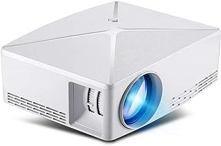 DZSF Mini-projektor C80 Up, 1280 x 720 upplösning, Android WIFI-proyektor, LED-bärbar HD 3D-balk för hemstödd 1080P (vit)