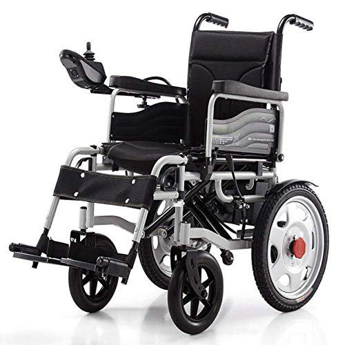 OSL Electric Wheelchair, Electric Folding Wheelchair Intelligent Powerchair Super Endurance Safer Elderly Wheelchair fdg OSL/Black