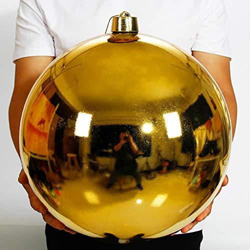 HYXXQQ Bolas de Navidad Gigante 40cm El Plastico Bolas Decorativas Inastillable Resistente A Los Rayos UV Adornos Decoraciones para Festivales (Color : Gold)