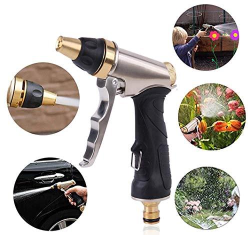 smzzz Douchette de Jardin Pistolets de pulvérisation Haute Pression Pratiques et Portables, Tous réglables en métal, débit d'eau Robuste et performant, arrosoir, arrosoir de Jardin