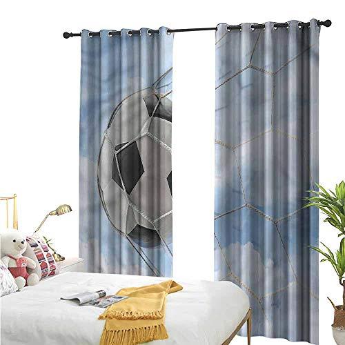 Flora Grant Grommet Top Drapes, Sport, Schets van een Rugby Speler, Rod gordijn paneel voor slaapkamer en woonkamer