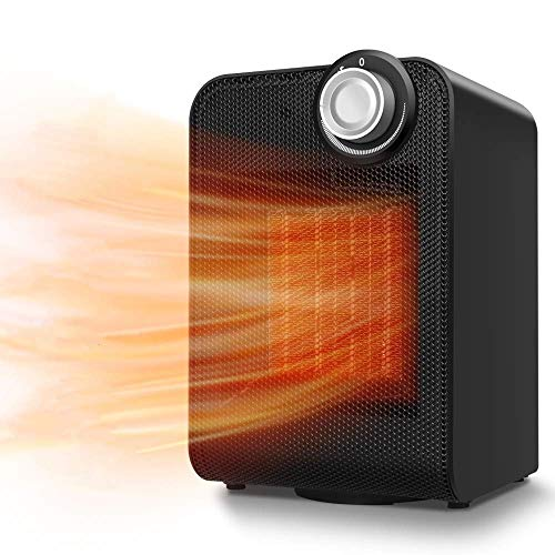 Review Portable Space Heater - Fast Heating Electric Personal Ceramic Space Heater w/Tip-Over & Over...