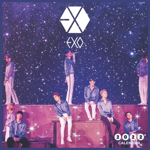 EXO 2022 Calendar: beautiful EXO - 16 month 2022 - 2023 Calendar