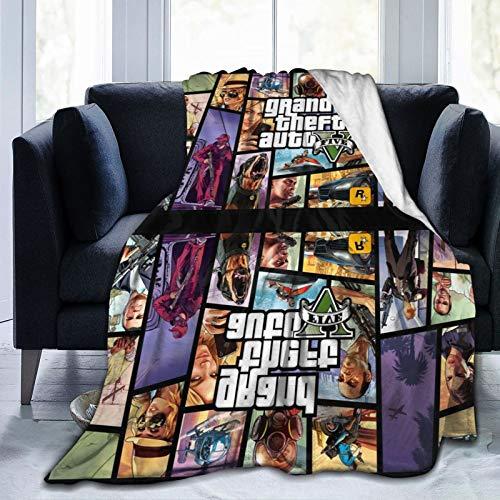 Vice City Yankton London 1961 Pop videojuego aventura juego G-T-A 26 baterías Decoración Mantas ultra suaves y esponjosas Pascua sofá silla cubierta mantel 80 x 60 pulgadas