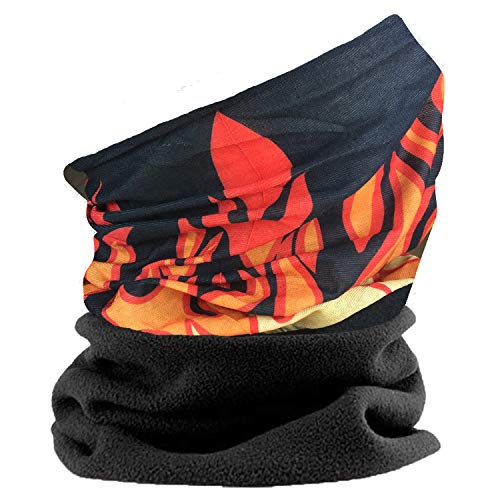 Multifuncional redecilla para Hombres. Bufanda, sombrero, calentador de cuello, capucha, balaclava con polar sección