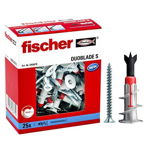 fischer 545676 Gipskartondübel Gipskartonplatten-Dübel DUOBLADE S, grau