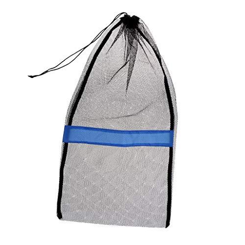 Inzopo Bolsa de malla con cordón para buceo, buceo, buceo, aletas de equipo de buceo, gafas de natación, accesorios negro, 31 x 18 pulgadas