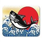 N\A Alfombrillas de ratón Acuario mariscos saludables Pescado del mar Wave Fishery Alfombrilla de ratón para portátiles, Alfombrillas de Escritorio Material de Oficina