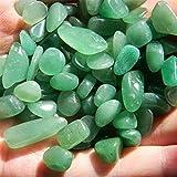 YSJJAXR Cristal áspero 100G Green Aventurine Grava Piedras Naturales y minerales Cristales Reiki Curación Chakra Suministros de brujería Decoración del Acuario Decoración hogareña (Size : 300g)