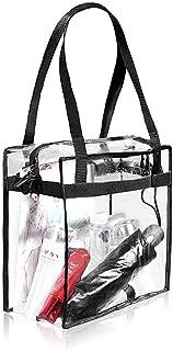 Fencelly Damen Transparente Tote Bag PVC Multi-Use Schultertasche Einkaufstasche