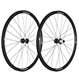 Vision Team 30 Sh11 V15 V15-Juego de Ruedas para Bicicleta (700 c), Color Negro y Gris, Unisex, 700c