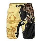 odin sky Shorts de Bain pour Hommes Vector Collection de Dinosaures Mignons de Dessin animé Seamless Pattern XXL Maillot de Bain