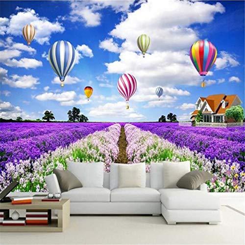 3D-fotobehang 555D, vliesbehang, groot, mediterrane gepersonaliseerd, modern, decoratief, rustiek, modern, minimalistisch, lavendel 300*210cm