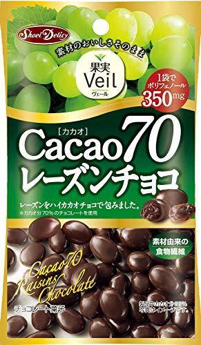 正栄デリシィ 果実Veil カカオ70レーズンチョコ 40g×12袋