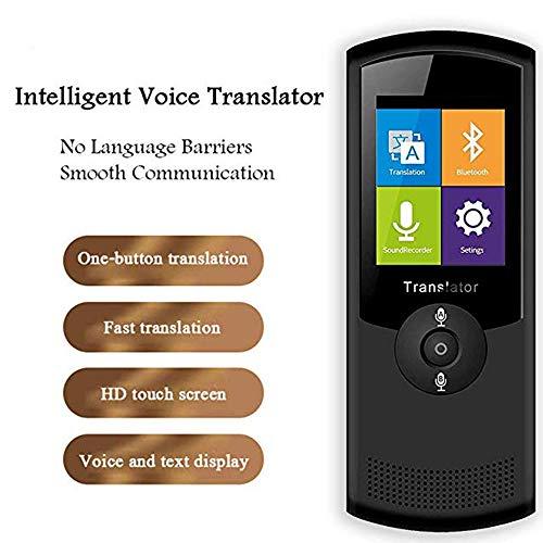 YQG Smart Voice Instant Translator-apparaat, ondersteuning voor 42 talen, 2,4-inch HD-touchscreen, WiFi, 4G, dubbele microfoon - twee-weg real-time vertaler voor reisleiders, zwart