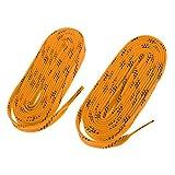Baoblaze 2 Pedazos de Cordónes de Zapatos de Hockey de Nylón Multiusos para Deportista Multiusos Unisexo Botas - Amarillo, 96 Pulgadas
