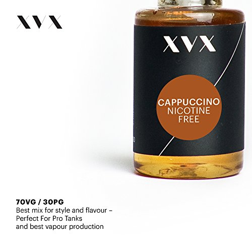 XVX E-Liquid Cappuccino Geschmack Elektronisches Liquid Für E-Zigarette Elektronische Shisha Liquid 10ml Flasche Nadelspitze Präzise Befllung Nikotinfrei