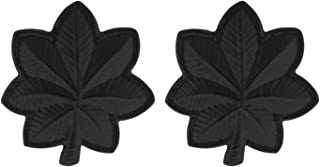 Army Rank LTC Lieutenant Colonel Black Pin On - Pair
