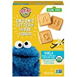 Earth's Best Organic Sesame Street Toddler Letter of the Day Cookies, Vanilla, 5.3 Oz Box (Pack of...