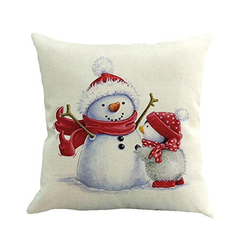 Cuscino di Christmas, Longra Pupazzo di Neve di Natale...