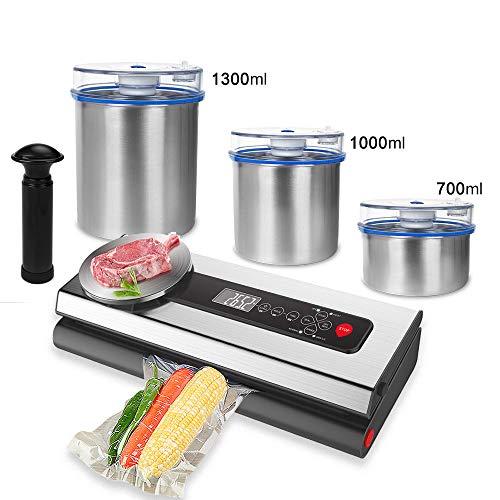 Vacuüm Voedsel Sealer Packer Machine met Voedselkwaliteit RVS Container Vacuüm Tassen Verpakking voor Verpakking S214