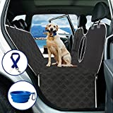Dog Car Seat Cover for Back Seat , Dog Seat Covers for car with Anti Slip, Waterproof Car Seat Covers for Dogs, Dog Car Hammock with Storage Pocket & Dog Safety Belt, Dog Backseat Protector for Cars