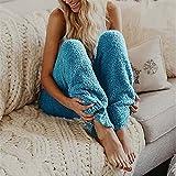 Pantalones térmicos para mujer, de invierno, largos, cálidos, de forro polar, con forro, para el tiempo libre, fitness, deporte, leggings, tiempo libre, yoga