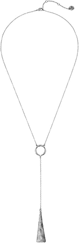 The Sak Paddle Lariat Necklace 22""
