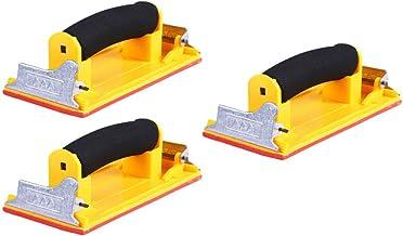 ULTECHNOVO 3 stycken handslip med svamphandtag torr konstruktion slipblock slippapper hållare verktyg för polering av träm...