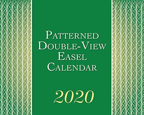 Patterned 2020 Double View Easel Desk Calendar