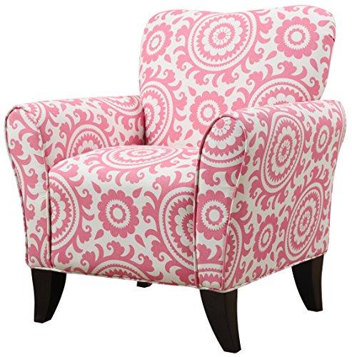 Handy Living Sasha Chair in Magenta Medallion