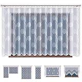 Promag Jacquard Gardinen mit Kräuselband Transparent in Weiß Fenster Vorhang (HxB) 160 x 500 cm - Ohne Bohren - Pflegeleicht | Oeko-TEX® Standard 100 Zertifizierung | Hergestellt in EU