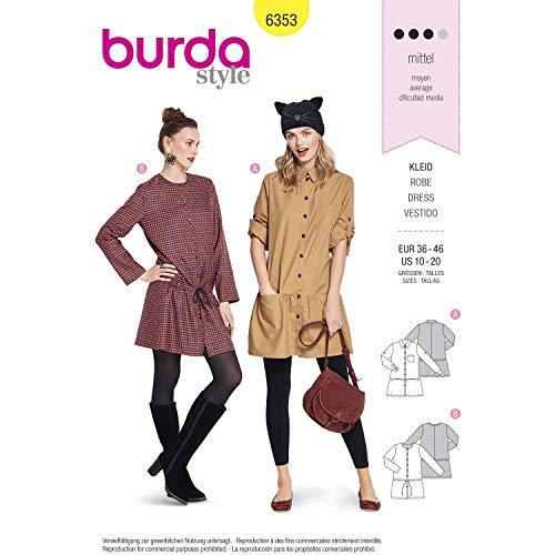 Burda Patron 6353 Robe, 38-48