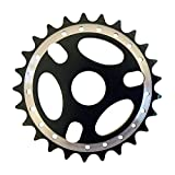 Cervus - Cadena de aleación para Bicicleta BMX, Dientes: 25, Color Negro