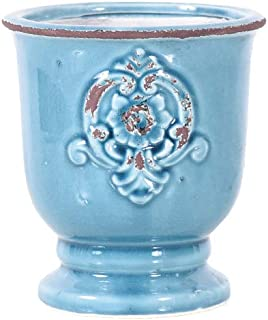 Little Green House Ceramic Light Blue Round Vase - Small