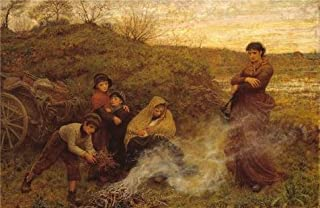 Oil Painting 'Frederick Walker - The Vagrants,1868' Printing On Polyster Canvas , 30x46 Inch / 76x117 Cm ,the Best Powder Room Decor And Home Decor And Gifts Is This Vivid Art Decorative Prints On Canvas