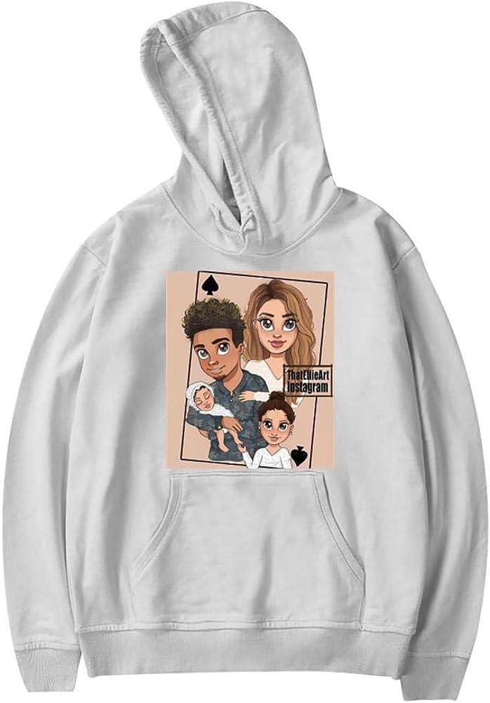 Ace Fam Spades Youth Sweatshirt Screen Printed Fashion Long Sleeve Hooded for Teen Girls Boys