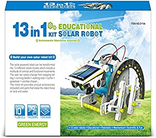STEM Toys for Boys and Girls Solar Powered 13 in 1 Robot Kit Educational Building Set Solar Rover Motorcycle Motor Boat Sp...